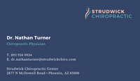 Blue Simple Chiropractic Business Card