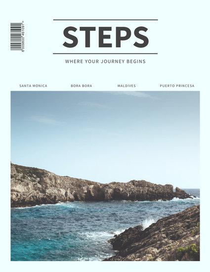 pastel travel magazine cover