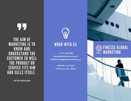 Blue With Photo Marketing Company Brochure  Templates By Canva
