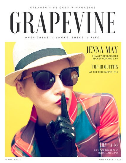 Yellow with Female Photo Gossip Magazine (Paid)