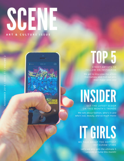 Colorful Photo Mobile Phone Gossip Magazine (Free)