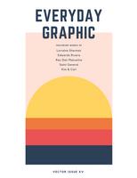 Sunset Vector Creative Magazine Cover