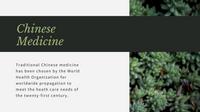 Organic Green Leaves Alternative Medicine Presentation