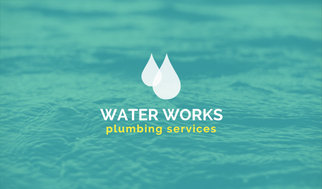 Water plumbing minimalist business card templates by canva water plumbing minimalist business card colourmoves Choice Image