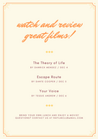 Yellow and Orange Bordered Film Club Flyer