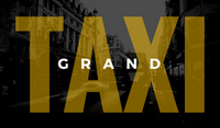 Black and Yellow Street Photo Taxi Business Card