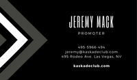 Black Grey Nightclub Geometric Las Vegas Business Card