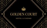 Black and Gold Diamond Pattern Las Vegas Business Card
