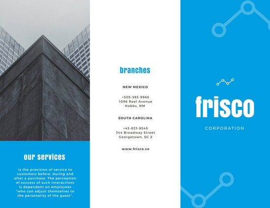 Navy blue buildings corporate tri fold brochure templates by canva navy blue buildings corporate tri fold brochure saigontimesfo