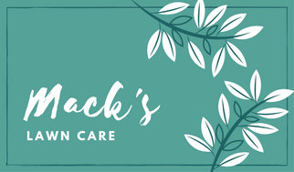 White and teal leaves lawn care business card templates by canva white and teal leaves lawn care business card wajeb Image collections