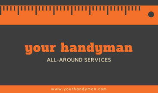 Gray and orange ruler handyman business card templates by canva gray and orange ruler handyman business card accmission Choice Image