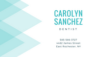 Blue Abstract Triangles Dentist Business Card