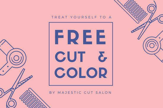 Pink indigo icons hair salon gift certificate templates by canva yelopaper Images