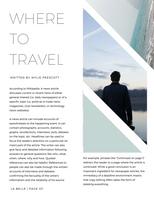 White Minimalist Travel Magazine