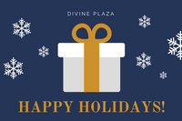Blue and Gold Christmas Gift Certificate