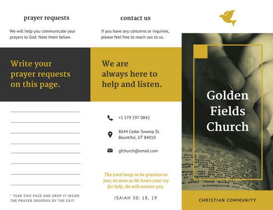 tri fold church bulletin template thevillas co