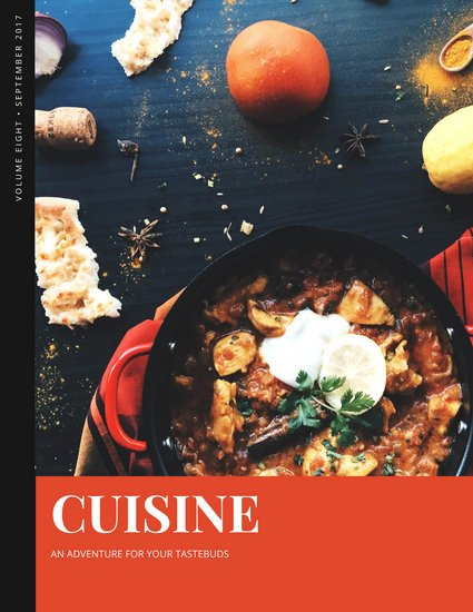 Red and Black Cuisine Food Magazine
