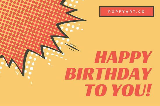 Red and orange pop art birthday gift certificate templates by canva red and orange pop art birthday gift certificate yadclub Image collections