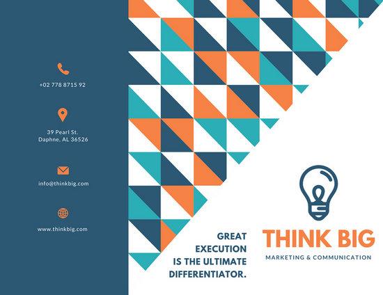 Geometric Pattern Marketing Trifold Brochure Templates By Canva