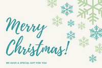 Green and Blue Snowflakes Christmas Gift Certificate