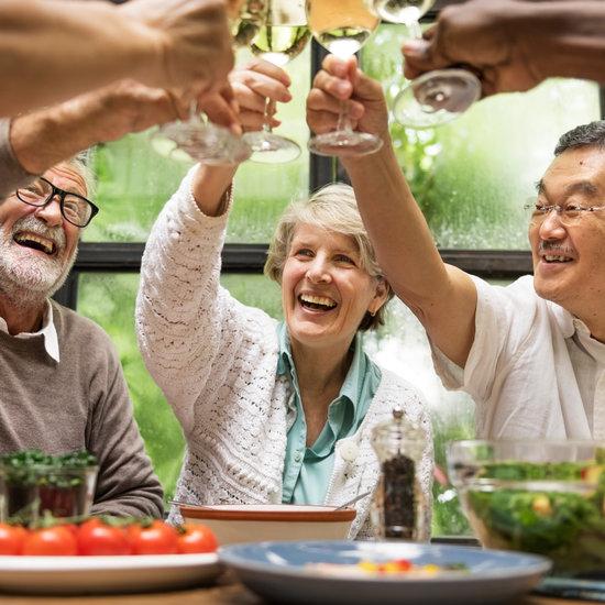 Senior Friends Celebrating