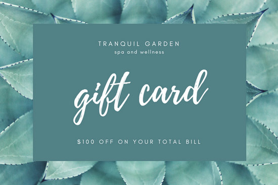 Green flower massage gift certificate templates by canva yadclub Images