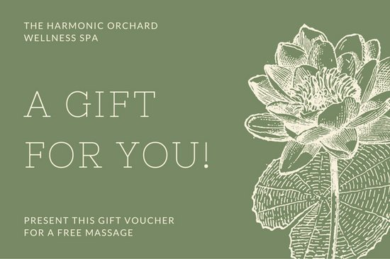 Vintage flower olive green massage gift certificate templates by canva yadclub Images