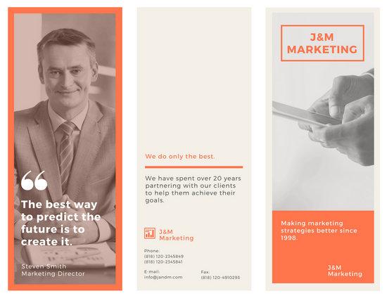 Orange Marketing Brochure - Templates by Canva
