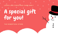 Red Snowman Illustrated Christmas Gift Certificate