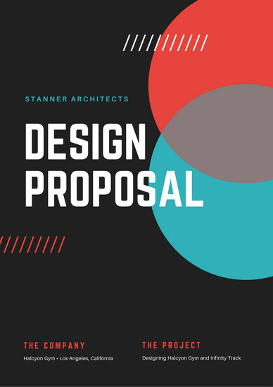 Blue Red Design Architecture General Proposal  Templates By Canva