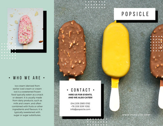 Mint Green Polkadots Modern Marketing Brochure  Templates By Canva