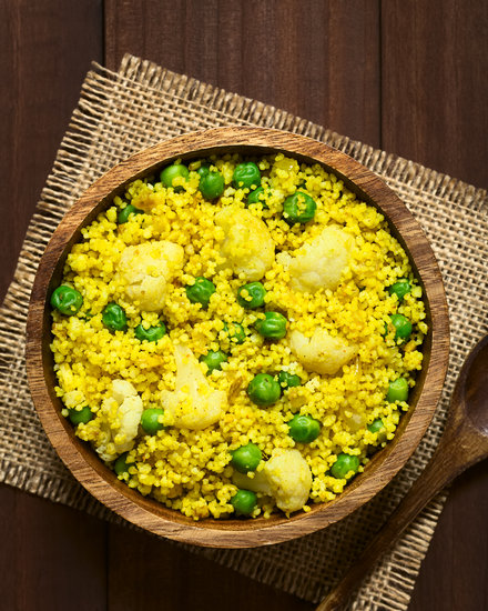 Curried couscous with peas
