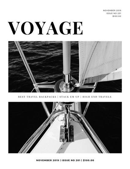 Black and White Minimalist Modern Travel Magazine