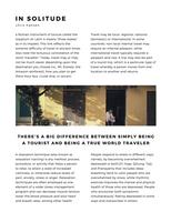Black and White Nordic Modern Travel Magazine