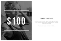 Simple Black and White Photography Gift Certificate