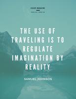 Turquoise Black Minimalist Travel Magazine