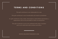Brown Vintage Camera Photography Gift Certificate
