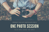 Cream and Dark Blue Photography Gift Certificate