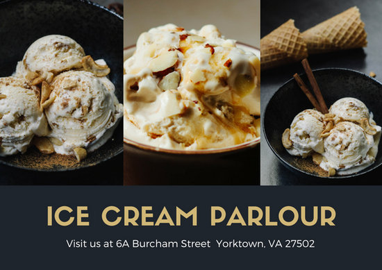 Gray Ice Cream On A Bowl Picture Postcard
