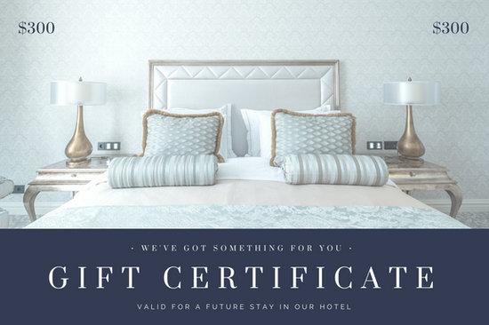 Blue Gray Bedroom Photo Hotel Gift Certificate