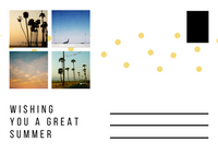 White Photo Grid Picture Postcard