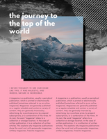 Pink Abstract Hipster Travel Magazine