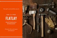 Dark Orange and White Flatlay Photography Gift Certificate