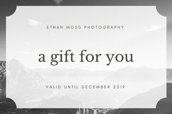 Black and white photography gift certificate templates by canva yadclub Gallery
