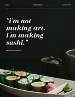 Black and White Sushi Food Magazine