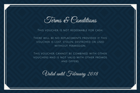 Blue Bordered Hotel Gift Certificate