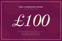 Purple and Cream Circles Hotel Gift Certificate