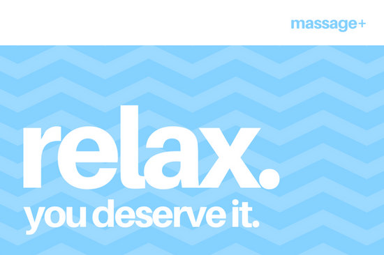 Blue pattern relax modern massage gift certificate templates by canva yadclub Images