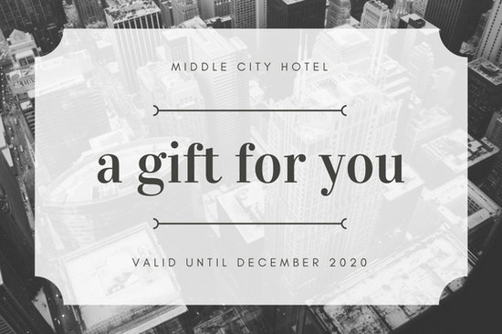 Black and white image hotel gift certificate templates by canva yadclub Gallery