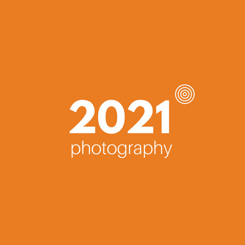 Orange Modern Photography Art & Design Logo